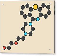 Quetiapine Antipsychotic Drug Molecule Acrylic Print by Molekuul