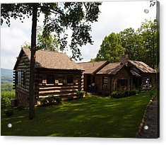 Quiet Cabin On A Hill Acrylic Print by Robert Margetts