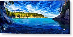 Quiet Cove At Cutler Acrylic Print by Bill Caldwell -        ABeautifulSky Photography
