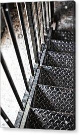 Quiet Stairwell Acrylic Print by Karol Livote