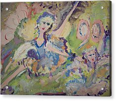 Quiet Time Fairies Acrylic Print by Judith Desrosiers