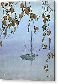 Quiet Water Acrylic Print by Carolyn Doe