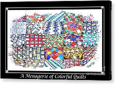 Quilt Collage Illustration Acrylic Print by Barbara Griffin