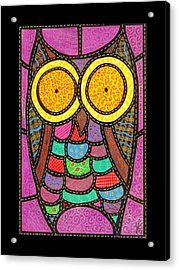 Quilted Owl Acrylic Print by Jim Harris