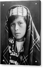 Quinault Indian Woman Circa 1913 Acrylic Print by Aged Pixel