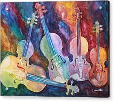 Quintet In Color Acrylic Print by Jenny Armitage