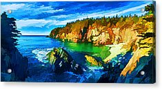 Quoddy Head Cove Acrylic Print by Bill Caldwell -        ABeautifulSky Photography