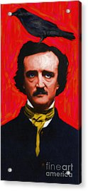 Quoth The Raven Nevermore - Edgar Allan Poe - Painterly Acrylic Print by Wingsdomain Art and Photography