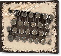 Qwerty Old Style Acrylic Print by Kae Cheatham