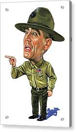 R. Lee Ermey As Gunnery Sergeant Hartman Acrylic Print by Art