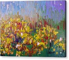 Rabbit Brush Abstracted Acrylic Print by Margaret Bobb