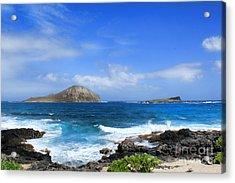 Rabbit Manana Island Oahu Hawaii Acrylic Print by Leslie Kirk