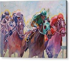 Race 2 Acrylic Print by Janina  Suuronen