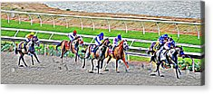 Racing Horses Acrylic Print by Christine Till