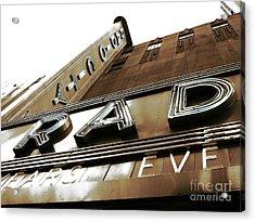 Rad In New York City Acrylic Print by John Rizzuto