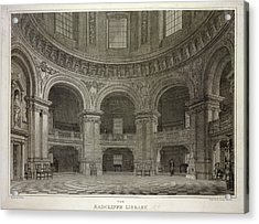 Radcliffe Library Acrylic Print by British Library
