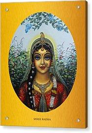 Radha Acrylic Print by Vrindavan Das
