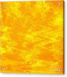 Radiating Sunshine Colors - Abstract Art Acrylic Print by Carol Groenen