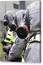 Radiation Emergency Response Workers Acrylic Print by Public Health England