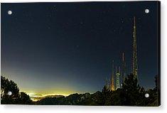 Radio And Tv Masts Acrylic Print by Babak Tafreshi