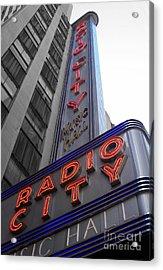 Radio City Acrylic Print by Dan Holm