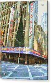 Radio City Music Hall At Christmas Acrylic Print by Dan Sproul