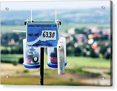 Radon Monitoring Equipment Acrylic Print by Wladimir Bulgar