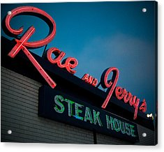 Rae And Jerry's Acrylic Print by Bryan Scott