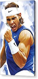 Rafael Nadal Artwork Acrylic Print by Sheraz A