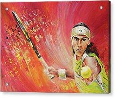 Rafael Nadal Acrylic Print by Miki De Goodaboom
