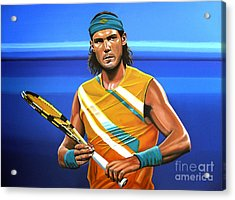 Rafael Nadal Acrylic Print by Paul Meijering