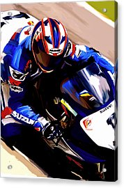 Rage With Machine Mat Mladin Acrylic Print by Iconic Images Art Gallery David Pucciarelli