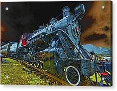 Rail On Acrylic Print by Dale Stillman