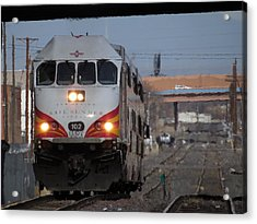 Rail Runner Acrylic Print by Feva  Fotos