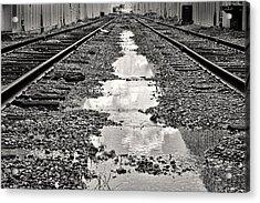Railroad 5715bw Acrylic Print by Rudy Umans