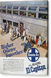 Railroad Ad, 1957 Acrylic Print by Granger