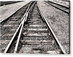 Railroad Switch Acrylic Print by Olivier Le Queinec