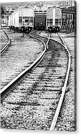 Railroad Yard Acrylic Print by Olivier Le Queinec