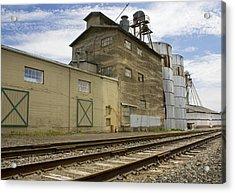 Railway Mill Acrylic Print by Sonya Lang