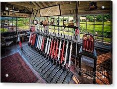 Railway Signal Box Acrylic Print by Adrian Evans