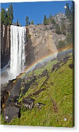 Rainbow At Vernal Falls Yosemite National Park Acrylic Print by Natural Focal Point Photography