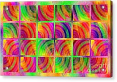 Rainbow Bliss 3 - Over The Rainbow H Acrylic Print by Andee Design