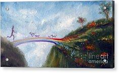 Rainbow Bridge Acrylic Print by Stella Violano