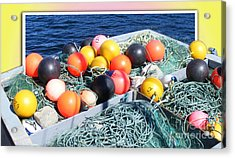 Rainbow Buoys Acrylic Print by Barbara Griffin