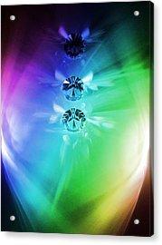 Rainbow Crystals Acrylic Print by Marianna Mills