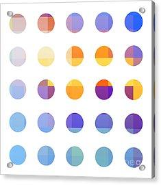 Rainbow Dots  Acrylic Print by Pixel Chimp