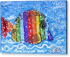Rainbow Fish Acrylic Print by Kathy Marrs Chandler