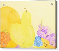 Rainbow Fruits And The Floating Lemon Acrylic Print by Ann Michelle Swadener