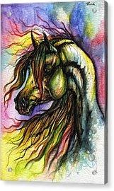 Rainbow Horse 2 Acrylic Print by Angel  Tarantella