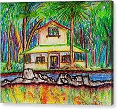 Rainbow House Acrylic Print by W Gilroy